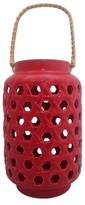 Threshold Ceramic Lantern - Red (Small