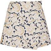 Suno Embroidered Cotton-Canvas Mini Skirt