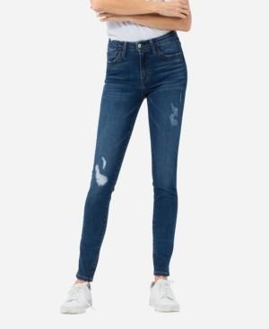 VERVET Women's Mid Rise Knee Grinding Skinny Jeans