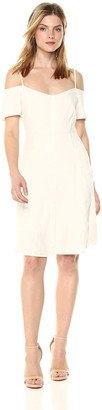 ASTR the Label Women's Kenna Off Shoulder Button Down Mini Dress with Side Pockets