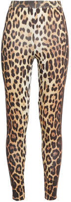 Moschino Leopard-print Stretch-jersey Leggings