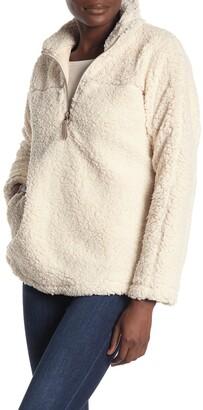 Elodie K Half Zip Faux Shearling Pullover