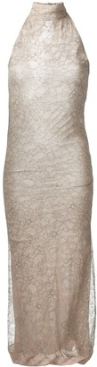 Romeo Gigli Pre Owned Lace Overlay Dress