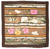 Salvatore Ferragamo Silk Floral Scarf