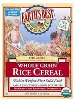 Earth Earth's Best Organic Baby First Solid Food Whole Grain Brown Rice Cereal 8 oz