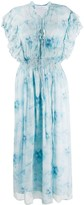 IRO Ruffle Gathered-Waist Dress