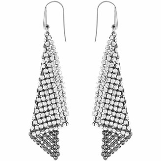 Swarovski Women's Fit Pierced Earrings Pair of Dazzling Earrings with White Crystals Rhodium Plated from the Fit Collection