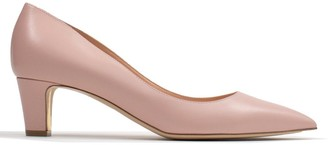 Rupert Sanderson Amara Pink Leather Low Heel Court Shoes