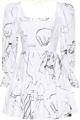 Alexander McQueen Printed cotton minidress