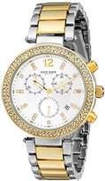 Akribos XXIV Women's AK529TT Diamond and Crystal Accented Swiss Quartz Crystal Chronograph Watch