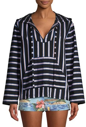 le superbe Dukes Baja Striped Hooded Tunic Top