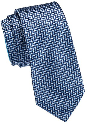 Emporio Armani Diagonal Chevron Silk Tie