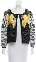Antonio Marras Long Sleeve Lace-Accented Top