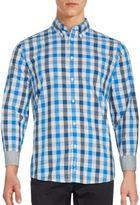 Ben Sherman Space Dye Gingham Woven Dress Shirt