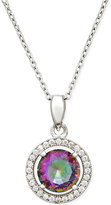 Giani Bernini Mystic Topaz (5/16 ct. t.w.) and Cubic Zirconia Pendant Necklace in Sterling Silver, Only at Macy's