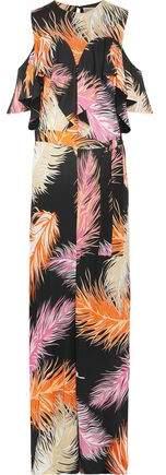 Emilio Pucci Cold-Shoulder Ruffled Jersey Maxi Dress