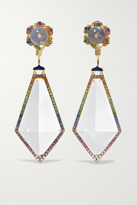 Noor Fares Madhya 18-karat Gold Multi-stone Earrings - one size
