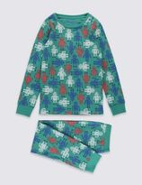 Marks and Spencer Skinny Fit Robot Print Pyjamas (1-16 Years)