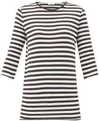 Raey Half-sleeve Striped Cotton-jersey T-shirt - Womens - Navy Stripe