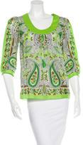 Tibi Silk Floral Top