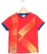 Kenzo Boys' Logo Print Short Sleeve Shirt