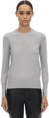 Salvatore Ferragamo Cashmere Knit Sweater W/asymmetric Cuffs