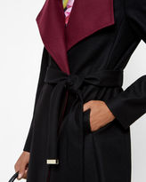 AFINA Funnel neck wrap coat