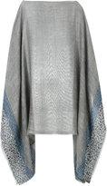 Rag & Bone patterned poncho - women - Cotton/Linen/Flax/Acrylic - One Size