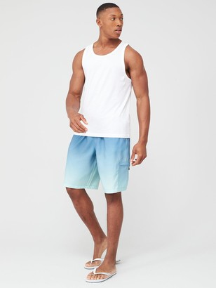 Very Ombre Long Swimming Shorts - Blue