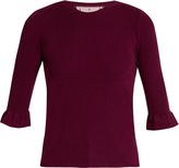 RED Valentino Fluted-cuff cashmere and silk-blend top