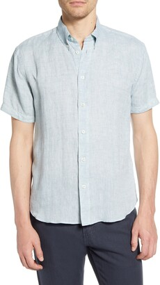 Billy Reid Tuscumbia Short Sleeve Linen Button-Down Shirt