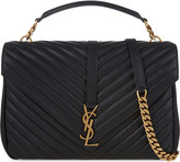 Saint Laurent Monogram collà ̈ge leather satchel
