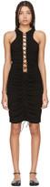 Unravel Black Lace-Up Dress