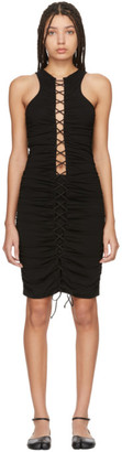 Unravel Black Lace-Up Dress