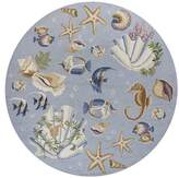 August Grove Labrosse Blue Nautical Novelty Rug Rug