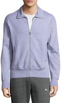 Save Khaki Heather Fleece Track Cotton Jacket