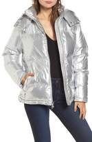 KENDALL + KYLIE Women's Shiny Puffer Jacket