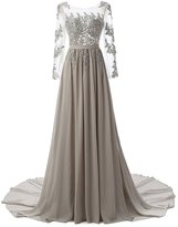 Orient Prom Woman's Chiffon Bridesmaid Dresses for Wedding Guest Long Sleeves
