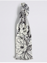 M&S Collection Floral Print Scarf