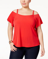 MICHAEL Michael Kors Size Embellished Cold-Shoulder Top, A Macy's Exclusive
