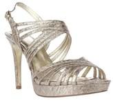 Adrianna Papell Aiden Platform Strappy Evening Sandals, Platino.