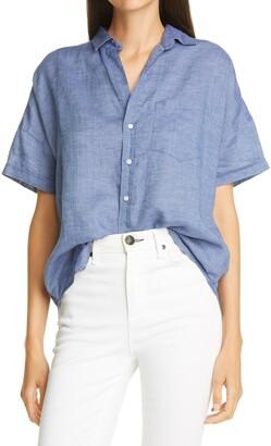 Frank And Eileen Rose Linen Button-Up Shirt
