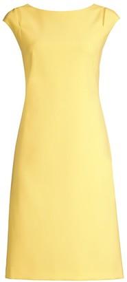 BOSS Dileky Shoulder Cutout Ponte Shift Dress