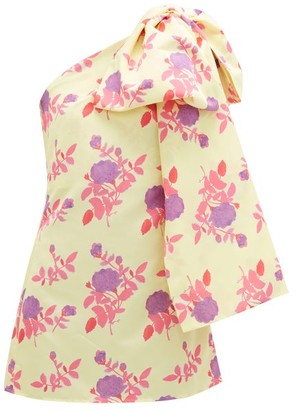 BERNADETTE Josselin Floral-print Bow-shoulder Dress - Yellow Multi