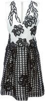 Alberta Ferretti embroidered flowers dress