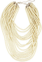 Lydell NYC Layered Simulated Pearl Beaded Statement Necklace