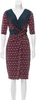Emilio Pucci Virgin Wool-Blend Printed Dress