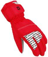 Deercon Winter War Sports windproof Waterproofotorcycle Snowboard Snow Ski Gloves(Red)