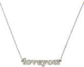 Cachet Love You Swarovski Crystal Necklace, Silver