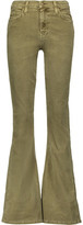 Current/Elliott The High Rise Cotton-Blend Corduroy Flared Jeans